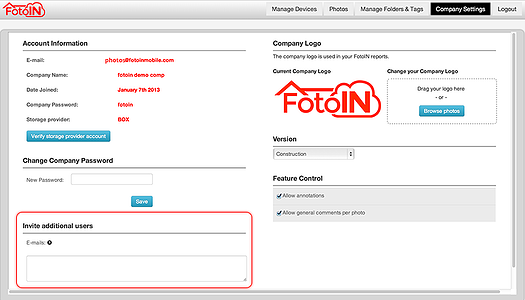 Add users by simple email entry.