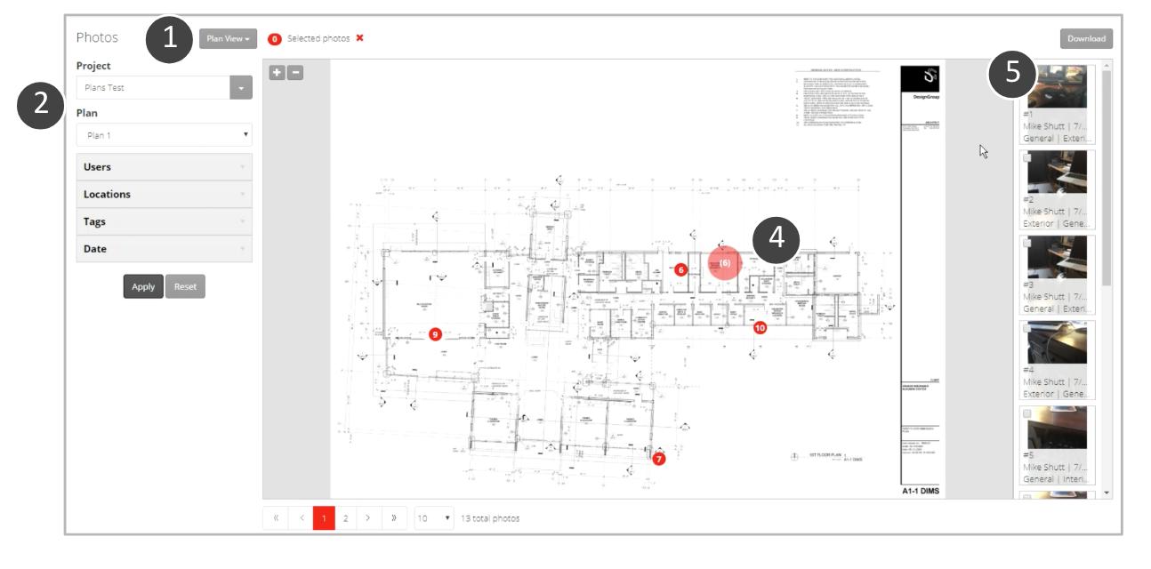 FotoIN Web Portal: Viewing Plans & Associated Photos
